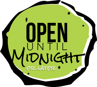 Open Till Midnight Badge